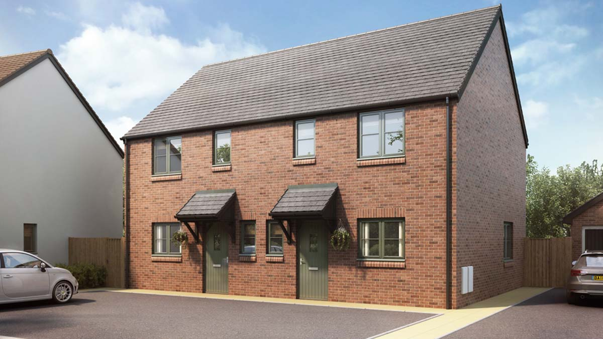 An artist's impression of one the Green Acres development in Alrewas
