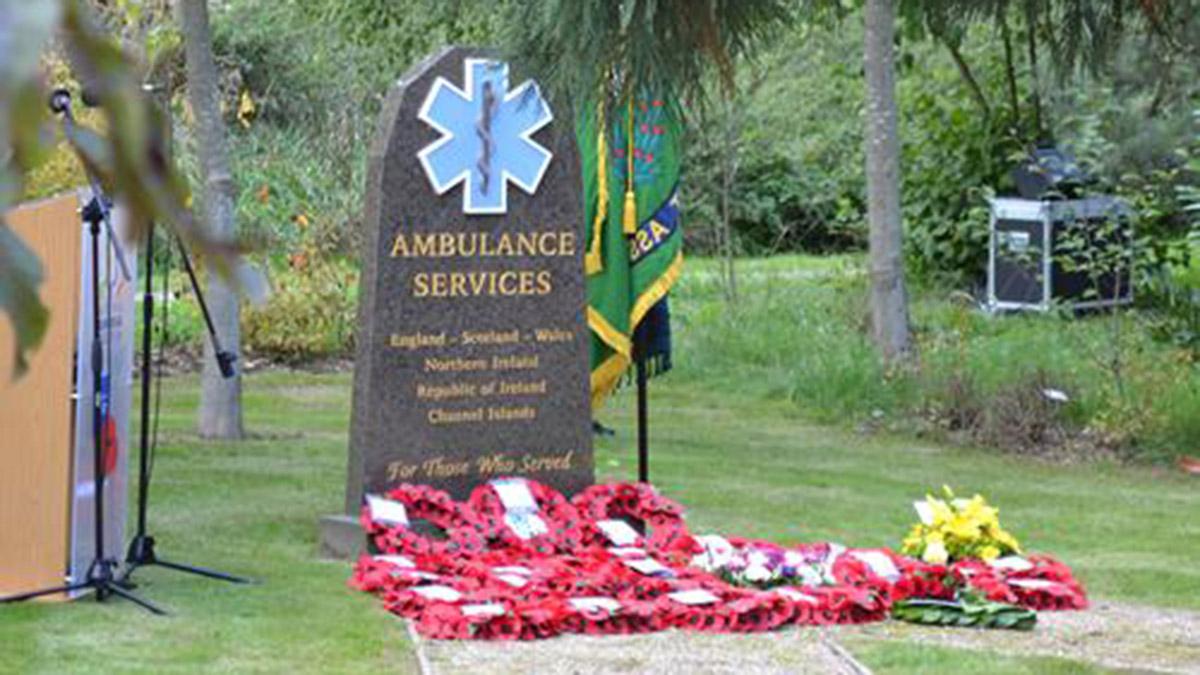 The Ambulance Services Memorial. Picture: National Memorial Arboretum