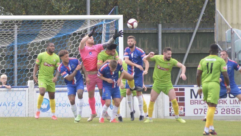 Action from Chasetown v Barwell. Picture: Louise Yates