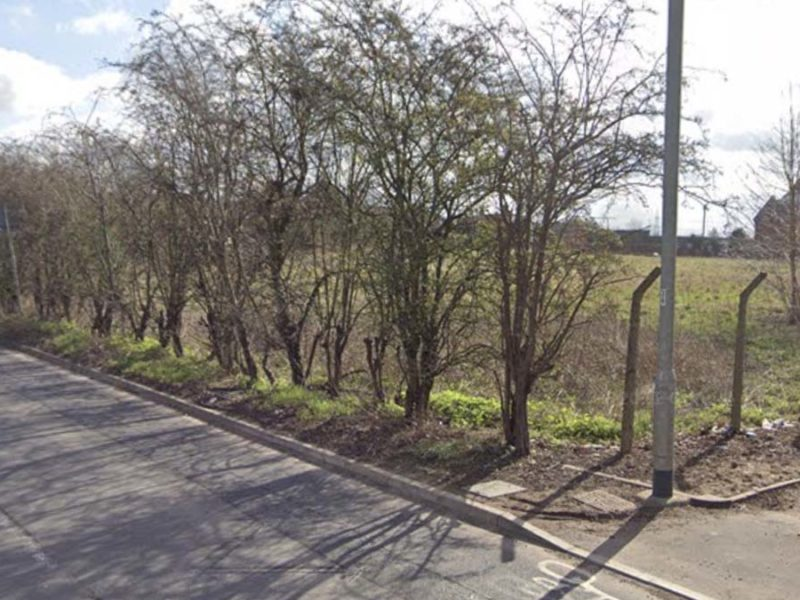 The field in Streethay where houses could be built. Picture: Google Streetview