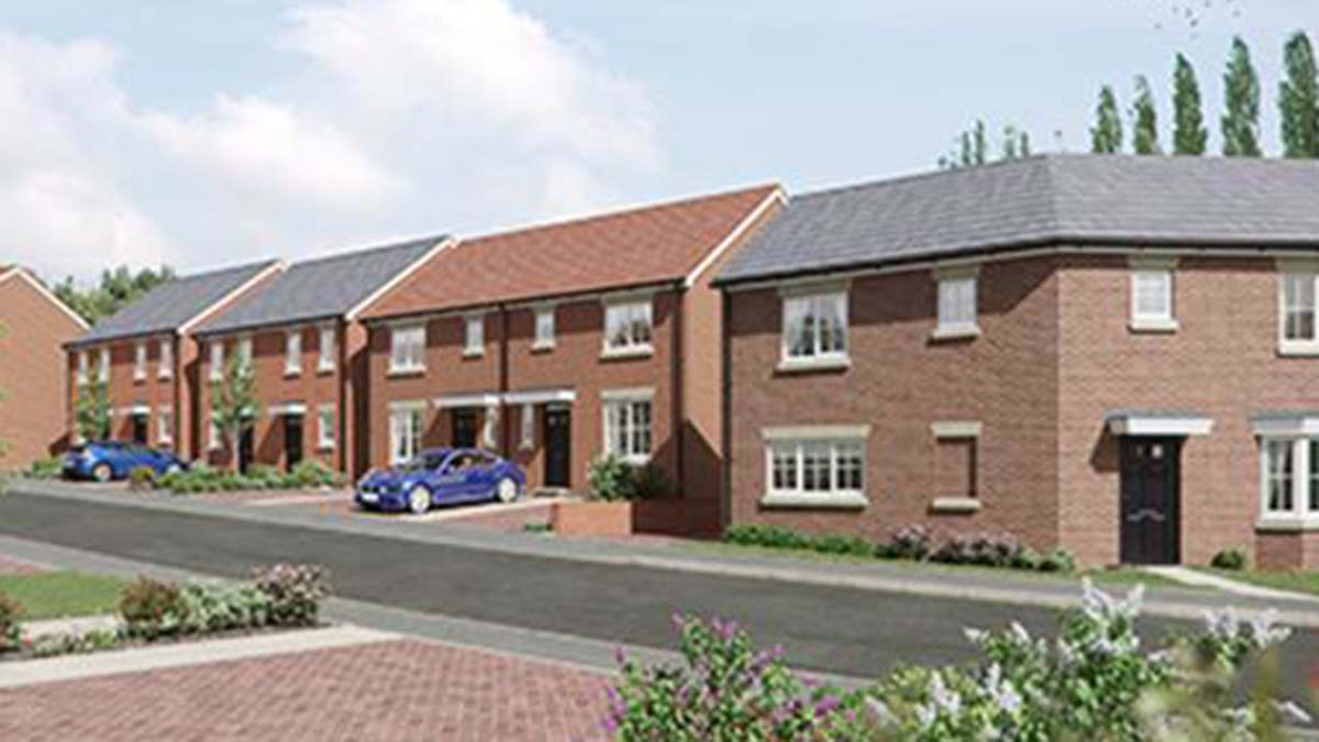 An artist's impression of the Sutton Rise development in Burntwood