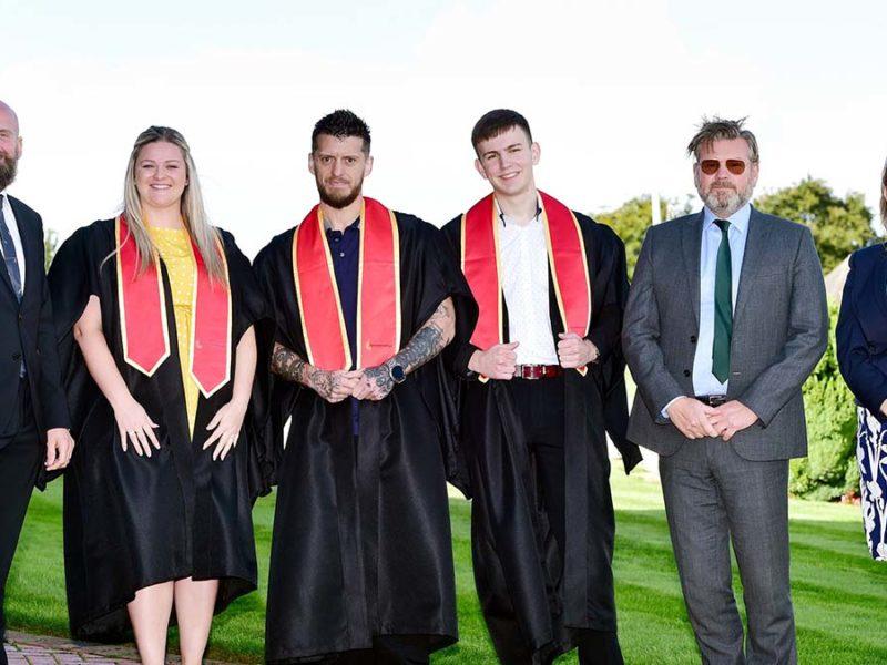 Alun Rogers, Emma Aherne, Martin Pedley, James Miller, Tony Baines and Jenny Johnstone at the ceremony