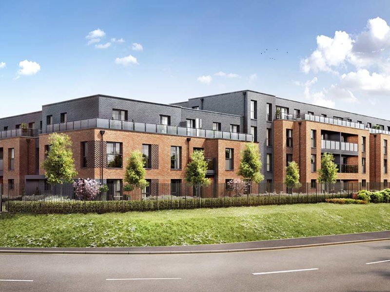 An artist's impression of the Stowe Place development