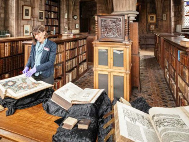 The library at Lichfield Cathedral. Picture: Lichfield Cathedral Photographers