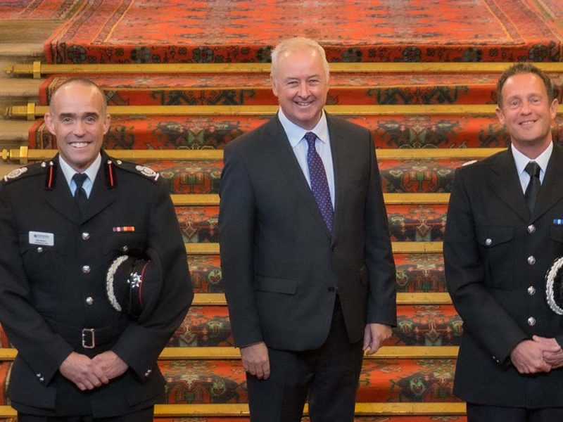 Rob Barber, Staffordshire Commissioner Ben Adams and Chris Noble