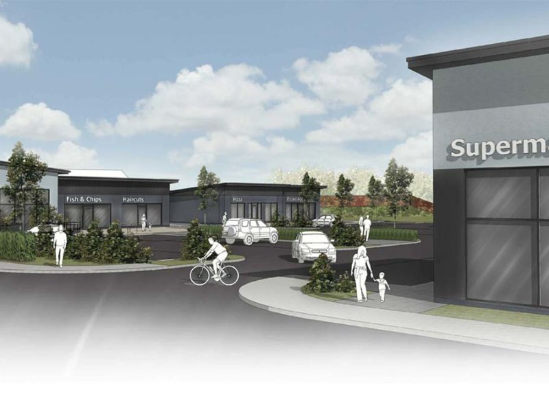 An artist's impression of the new retail centre at Streethay