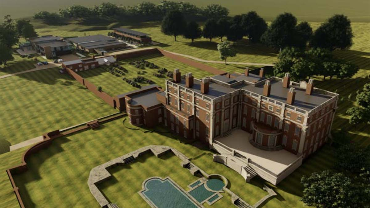 An artist's impression of the revamped Swinfen Hall Hotel